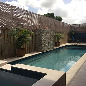 Poolside Backyard