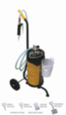 Glue injection canister