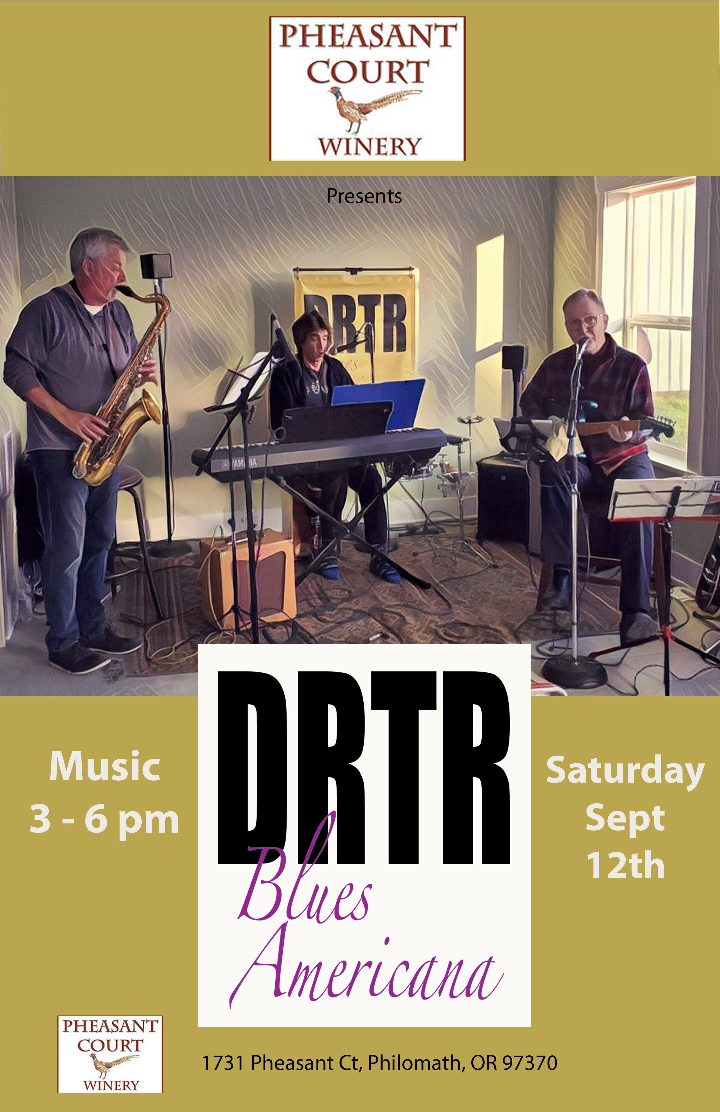 DRTR at Pheasant Court poster 9-12-20