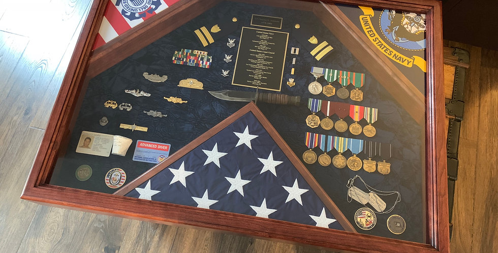 Triple Flag Shadow Box