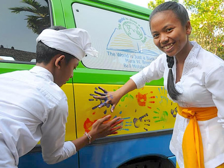 Mara W. Breech Mobile Library is Now Serving the Children of Bali