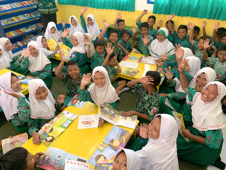 Knights of 1-800-Got-Junk Library Opens in Indonesia!