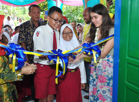 Khen Tran Library Funded by Cybella Maffit Opens in Indonesia!