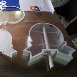 Produção de estrutura para letreiro luminoso #placaserv #placas #letreiros #fachadas #plotagem #ades