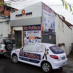 Campamha Politica 2014 #placaserv #placas #letreiros #fachadas #plotagem #adesivos #painéis #banner