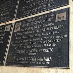 Placa de inauguração em alumínio fundido #paineis #plotagem #placaserv #letreiros #comunicacaovisual