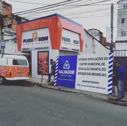 Placa de obra #placaserv #placas #banner #paineis #sinalizacaointerna #letreiros #luminosos #plotage