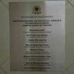 Placa inaugural em Aço inox gravada  #placaserv #plotagem #fachadas #placadeobra #letreiros #paineis