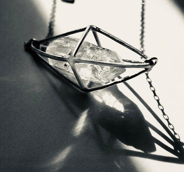 Diana Parés - Octahedro Silver-Necklaces