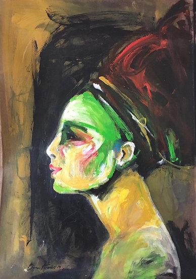 Dina Atencio - Cabeza de mujer 2