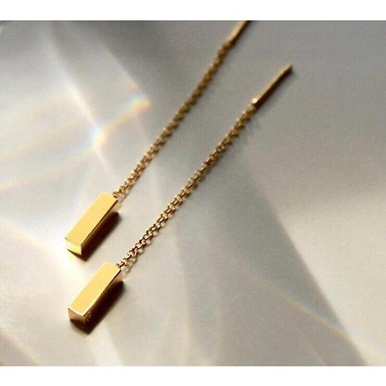 Diana Parés - Earrings Ingot gold