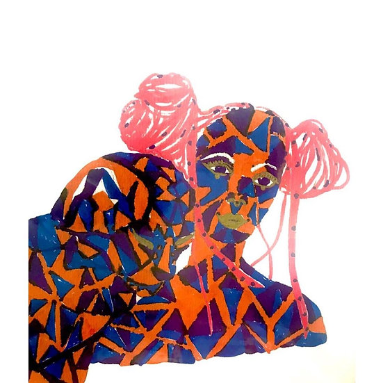 María Wright - Chica de pelo rosa