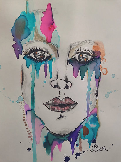 Juliana Bach - Serie: Ella llueve, 2