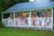 Le dortoir des 8 à 10 ans du Camp Olier (le Gallion)