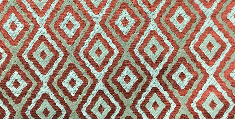 Red - Khaki - Cream Diamond Silk