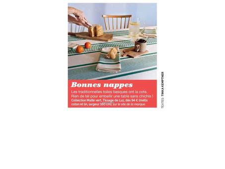 [revue de presse] Elle, Figaro Magazine, Marie Claire Maison : Tissage de Luz s'affiche dans la