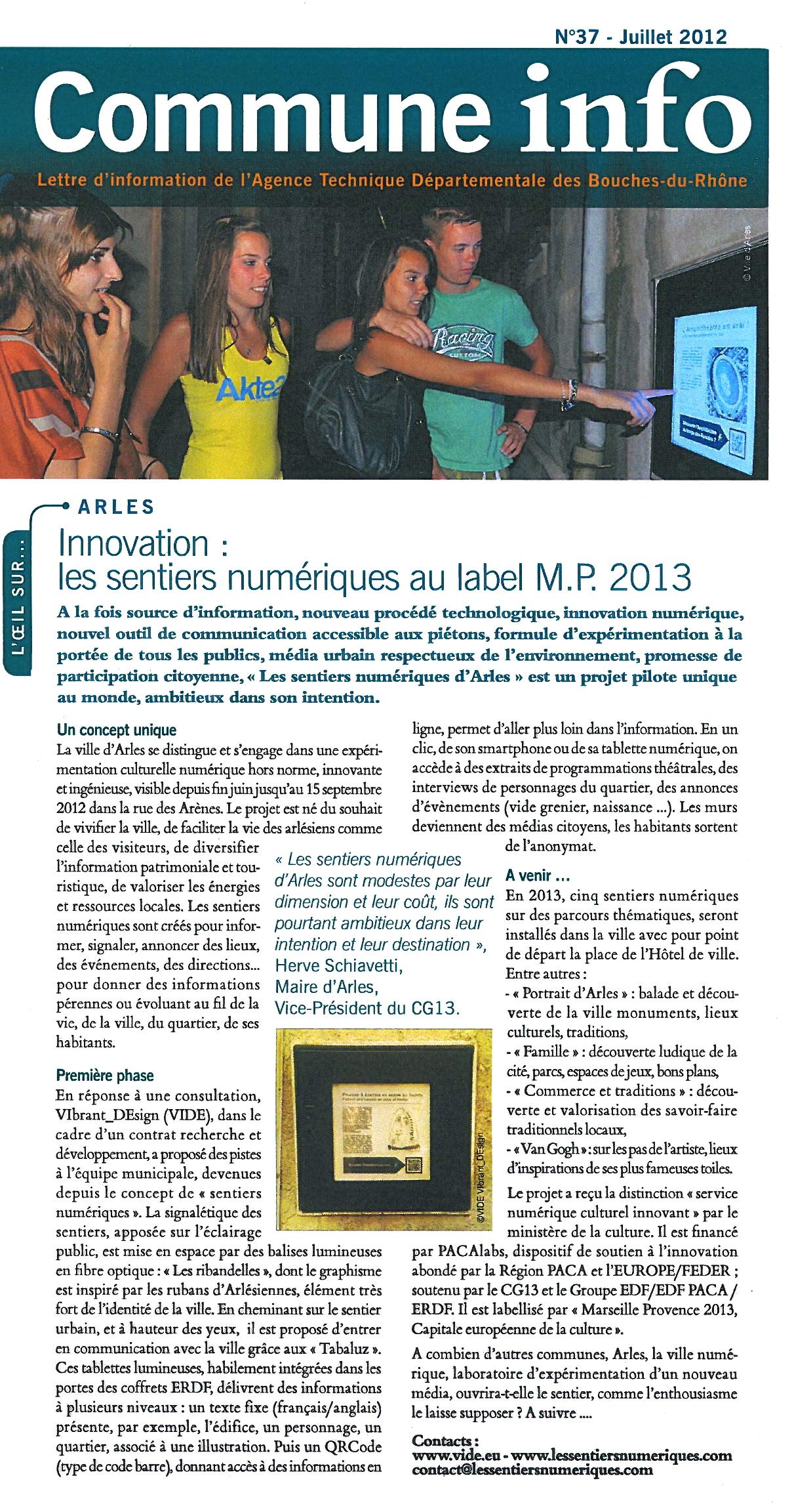 Communes Infos. Août 2012