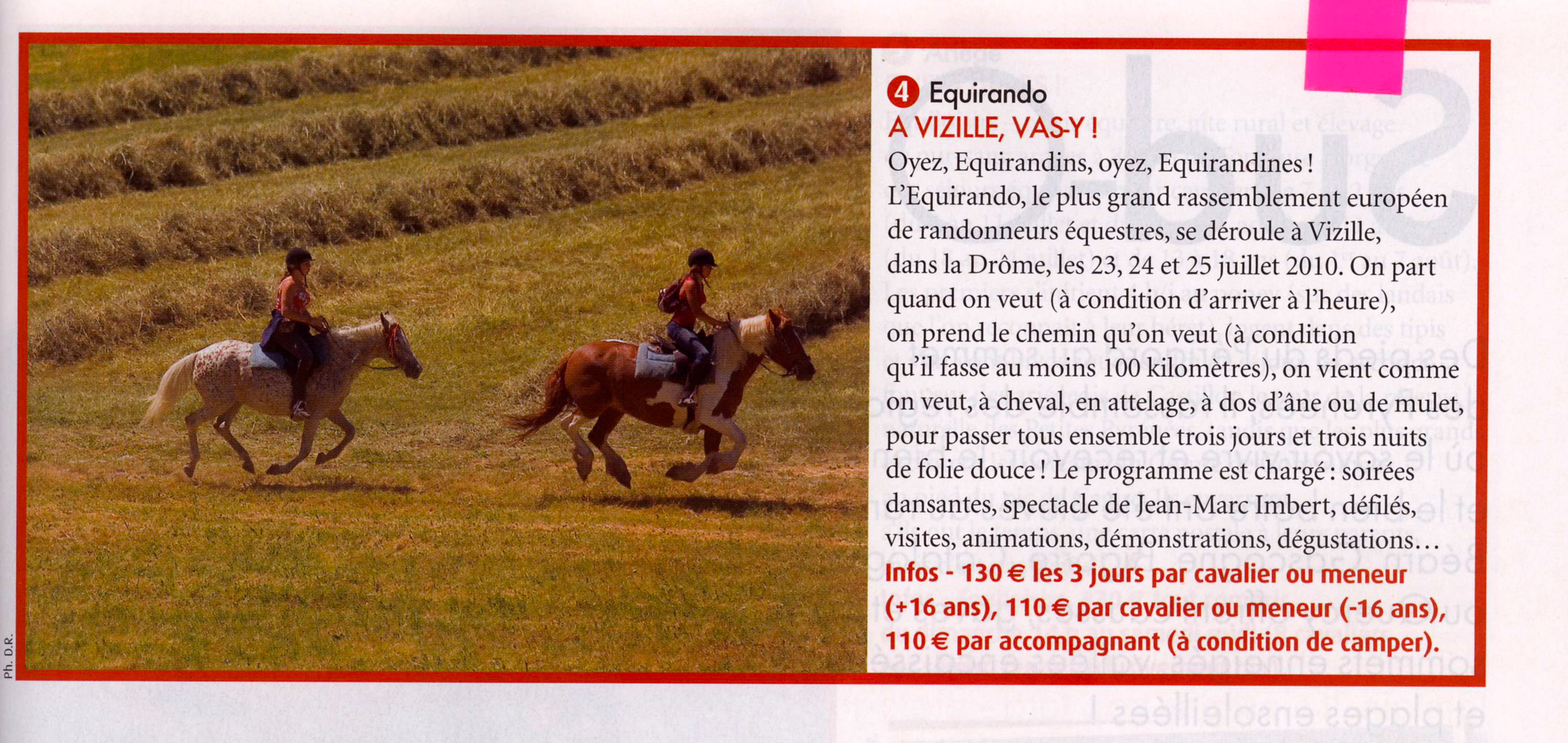Cheval Magazine Avril 2010
