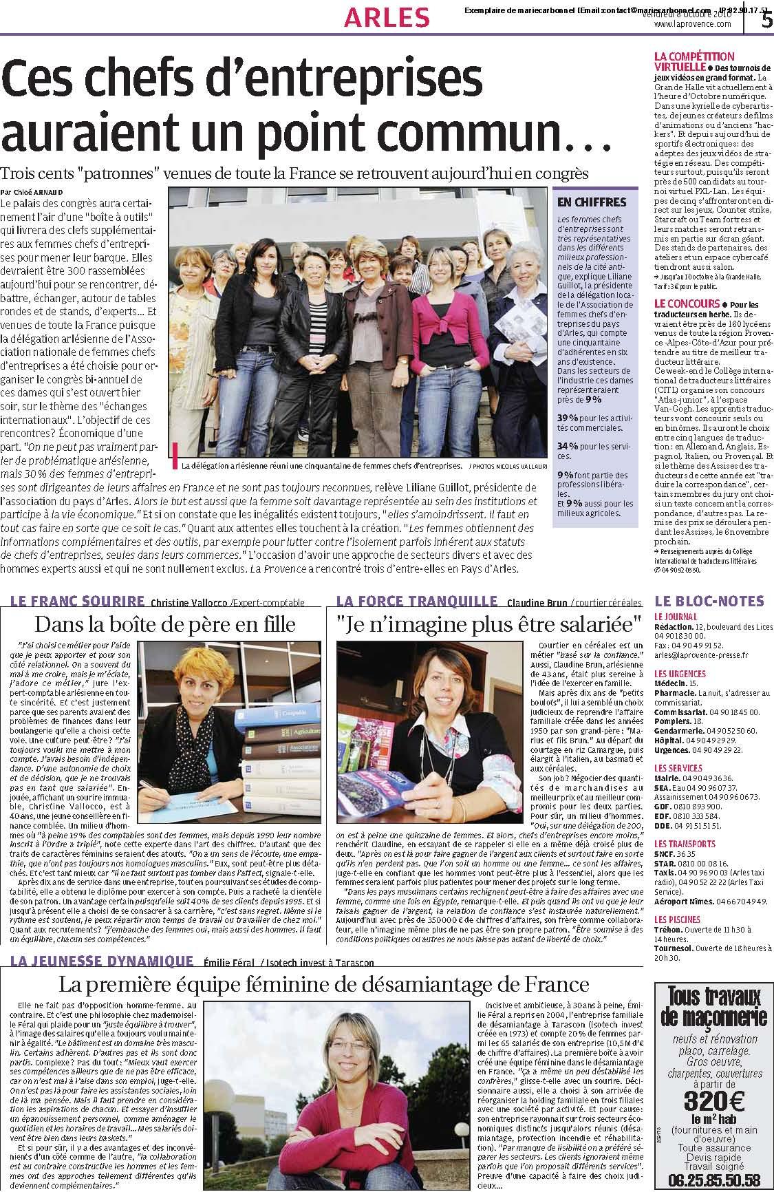 La Provence Octobre 2010