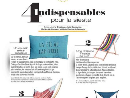 Gala, Elle, Prima, Forbes, Avantages : Tissage de Luz s'affiche dans la presse estivale !