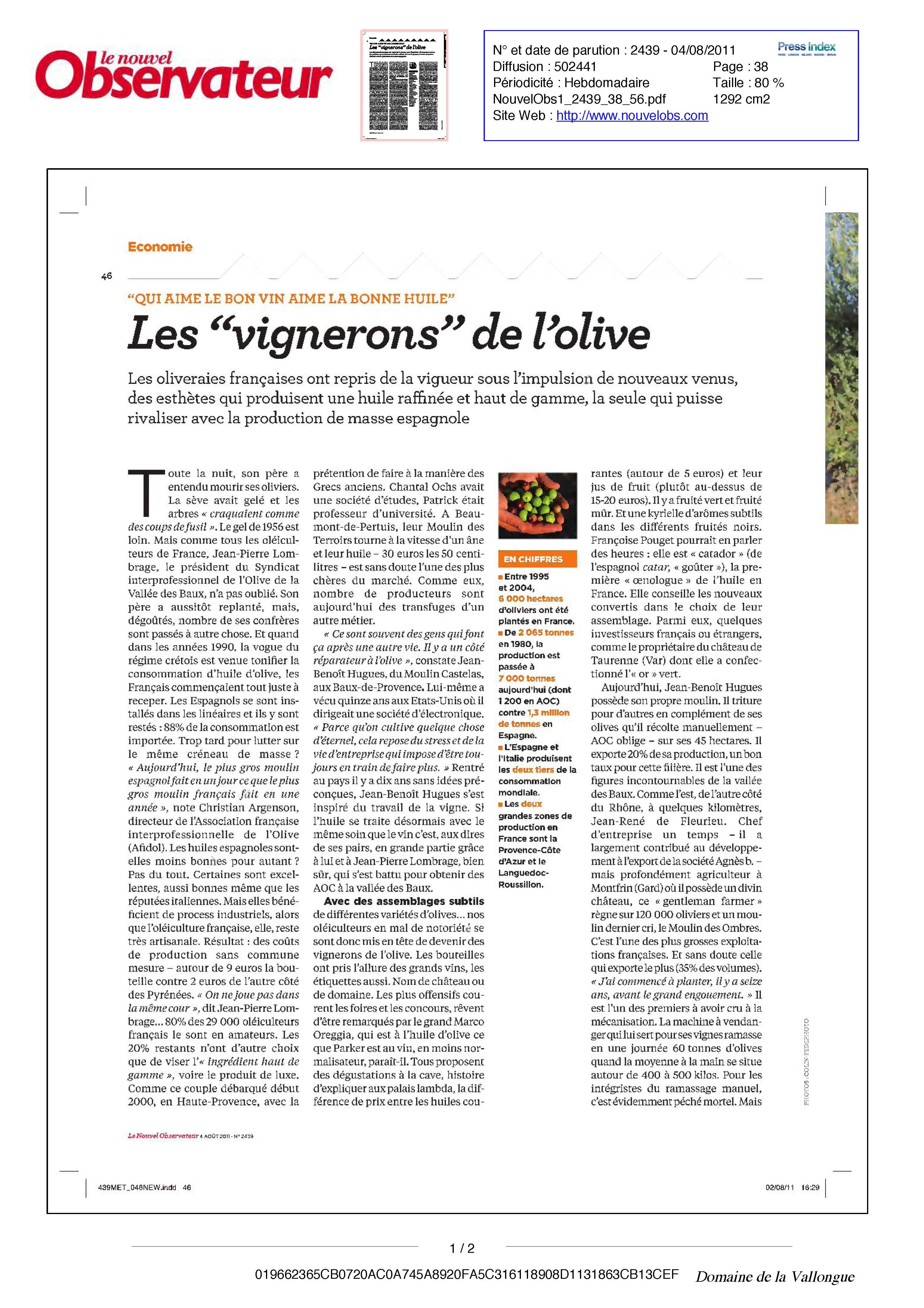 Le Nouvel Observateur Juillet 2012