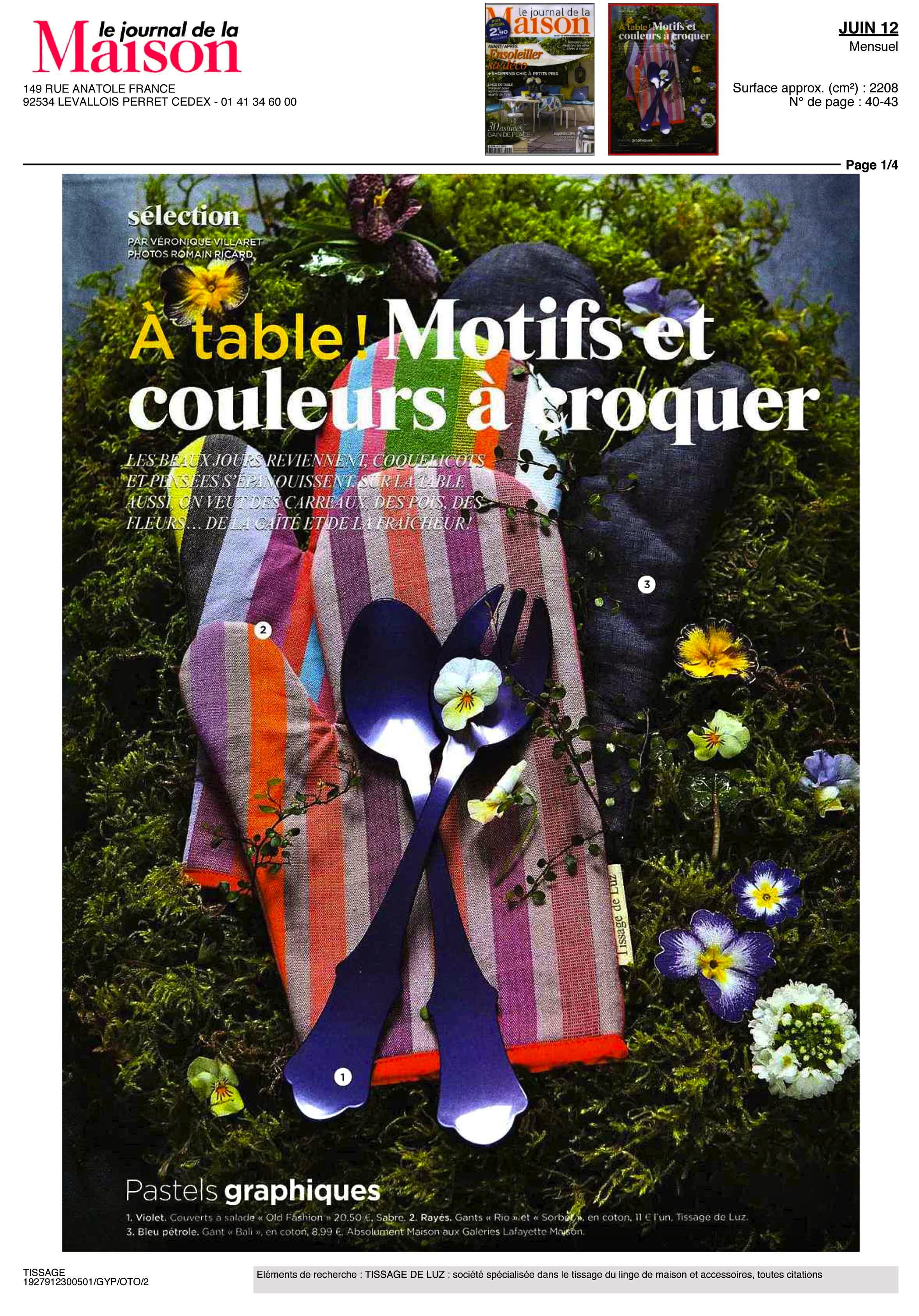 Le Journal de la Maison. Juin 2012