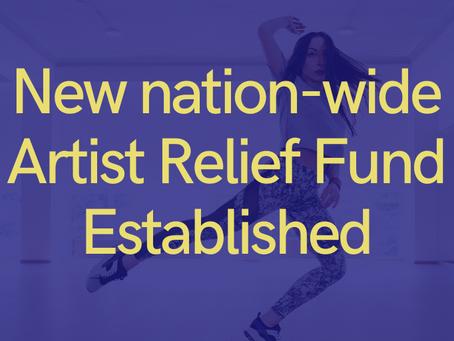 New Nation-Wide Artist Relief Fund Established