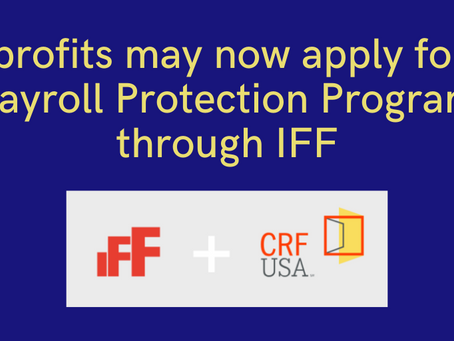 Nonprofits & PPP: Apply through the IFF