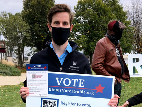 Rob Young participates in Voting for Change rally