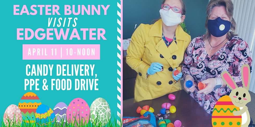 Easter Bunny Visits Edgewater: Candy Delivery, PPE & Food Drive
