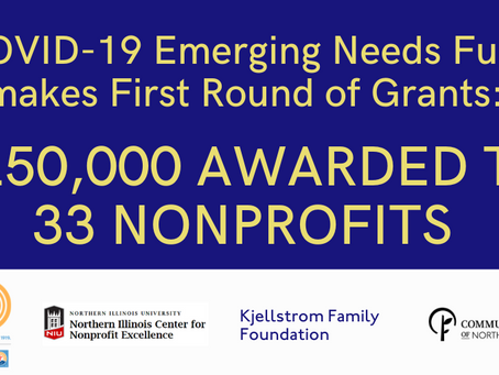 $250,000 AWARDED TO 33 NON-PROFITS FROM COVID-19 EMERGING NEEDS FUND