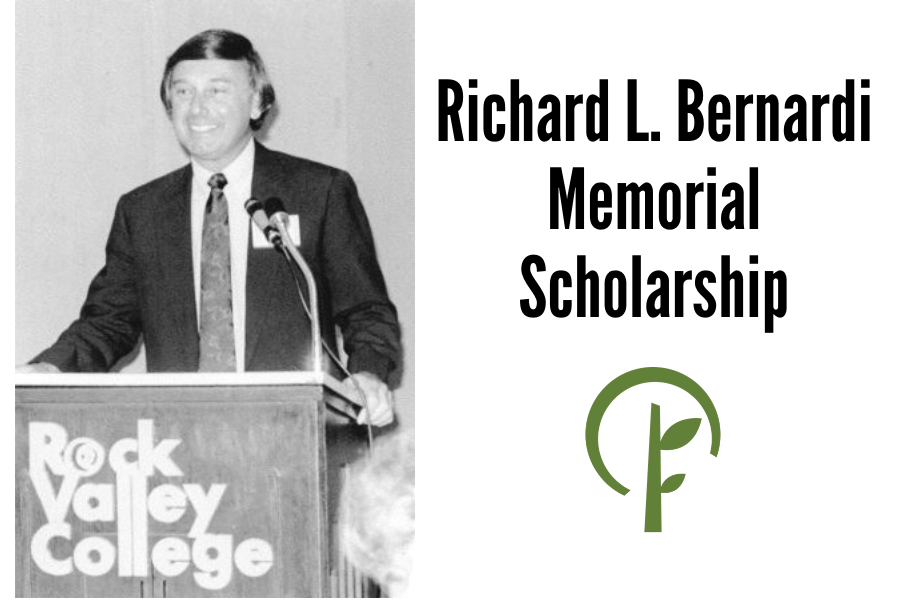 Photo of Richard L. Bernardi and logo for the Community Foundation of Northern Illinois