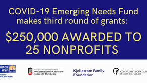 ROUND THREE OF EMERGING NEEDS FUND DISTRIBUTES ANOTHER $250,000 IN COMMUNITY SUPPORT