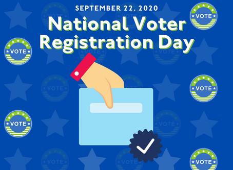 It's National Voter Registration Day!