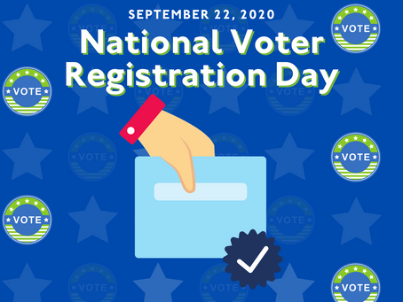 It's National Voter Registration Day!