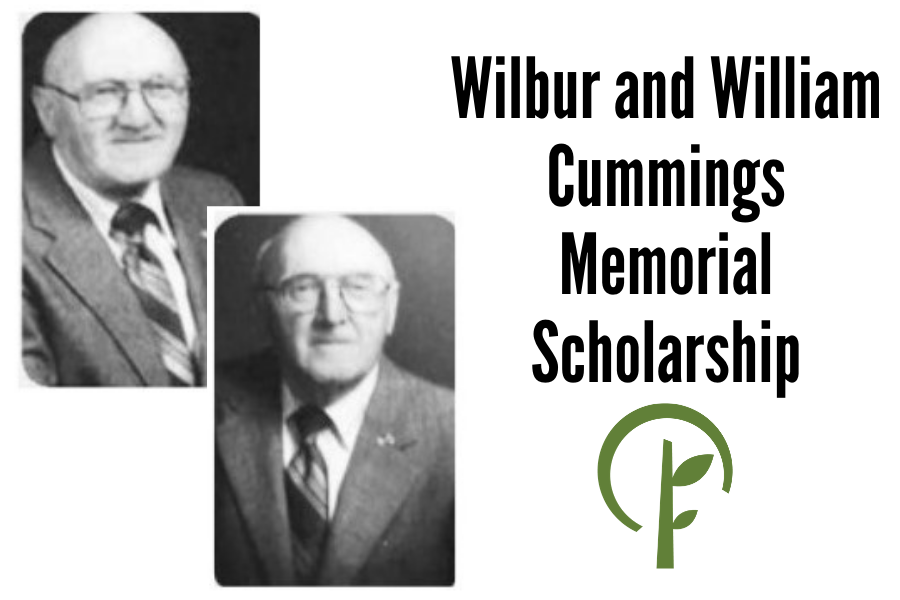 Photos of Wibur and William Cummings. Logo for the Community Foundation of Northern Illinois.