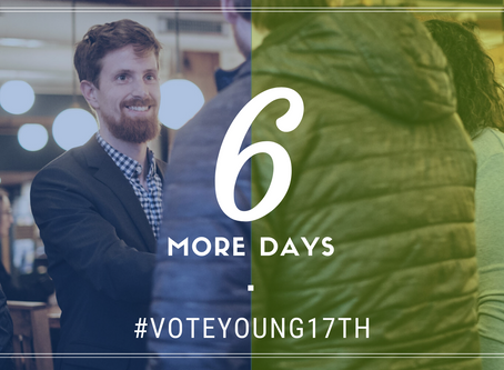6 days and counting until the Primary. Vote Young!