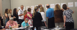 Cohort members participate in a data walk 2_edited