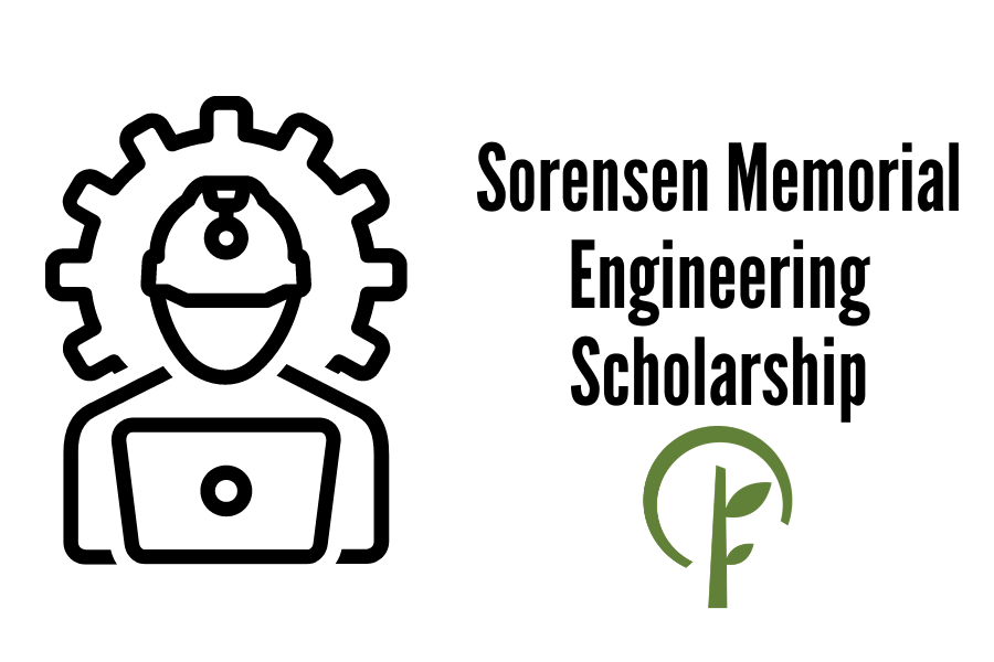 Icon symbolizing an engineer and logo for the Community Foundation of Northern Illinois
