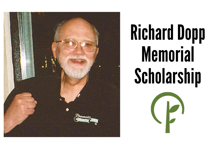 Photo of Richard Dopp and logo for the Community Foundation of Northern Illinois
