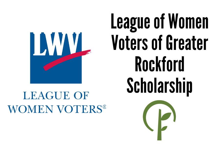 League of Women Voters logo. Community Foundation of Northern Illinois logo.