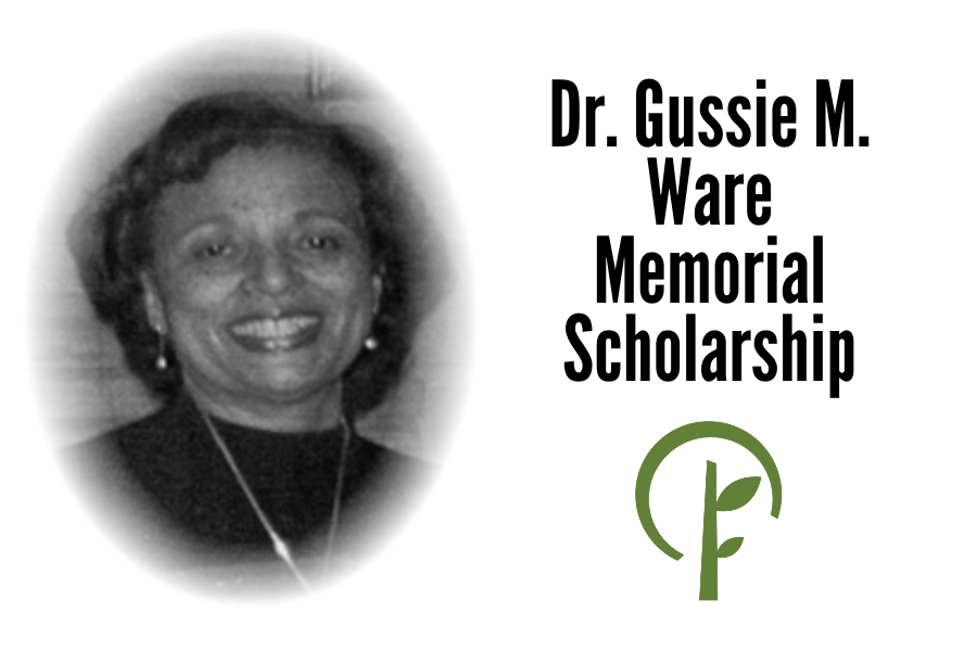 Photo of Dr. Gussie M. Ware and logo for the Community Foundation of Northern Illinois