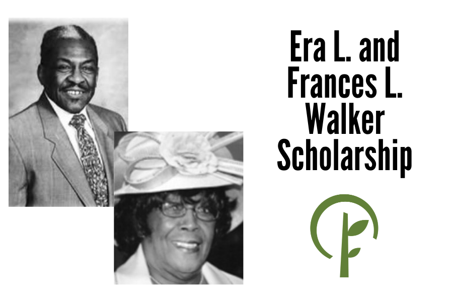 Photos of Era L. and Frances L. Walker and logo for the Community Foundation of Northern Illinois