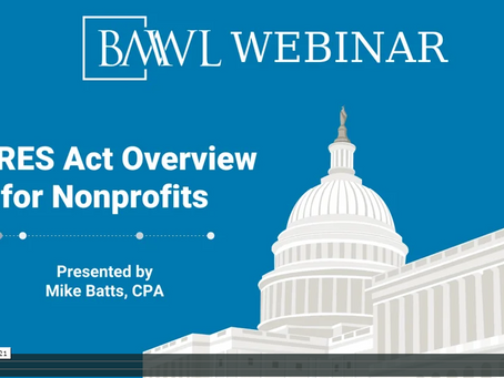 CARES Act Overview and Resources for Nonprofits
