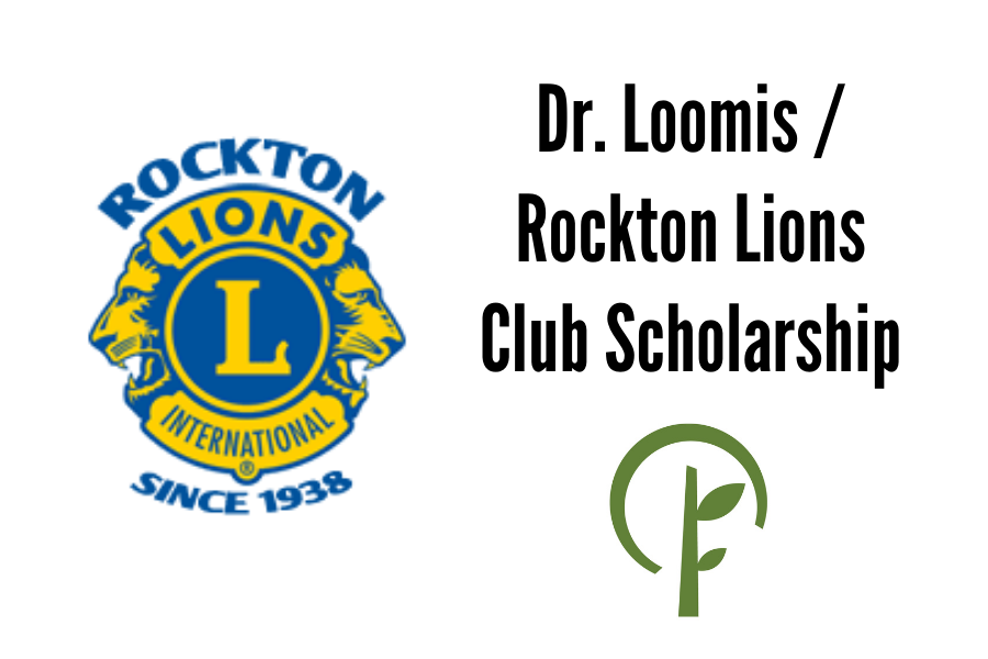 Logos for the Rockton Lions and the Community Foundation of Northern Illinois