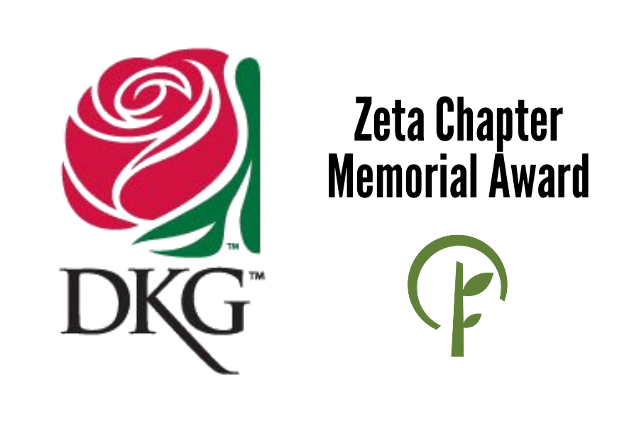 Logos for Delta Kappa Gamma Society International and the Community Foundation of Northern Illinois.