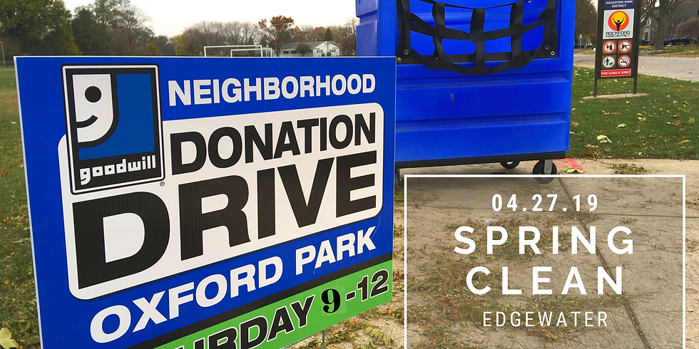 Edgewater Spring Donation Drive