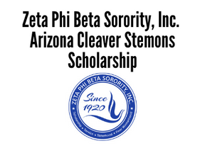 Zeta Phi Beta Sorority, Inc. Arizona Cleaver Stemons Scholarship