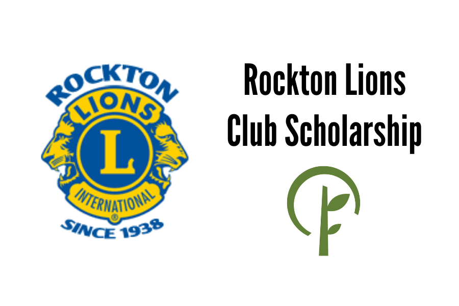 Logos for the Rockton Lions Club and the Community Foundation of Northern Illinois