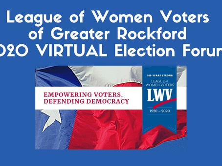 League of Women Voters 2020 Election Forums